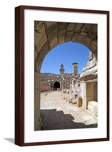 View Through the Vaulted Entrance of the Xanthos Theatre into the Orchestra Pit--Framed Art Print