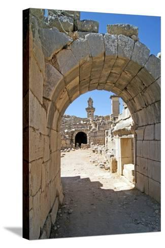 View Through the Vaulted Entrance of the Xanthos Theatre into the Orchestra Pit--Stretched Canvas Print