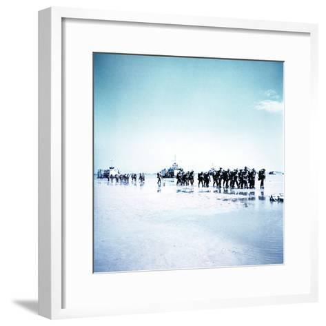 Troops of the 3rd Canadian Infantry Division Landing at Juno Beach Near Bernieres-Sur-Mer on D-Day--Framed Art Print