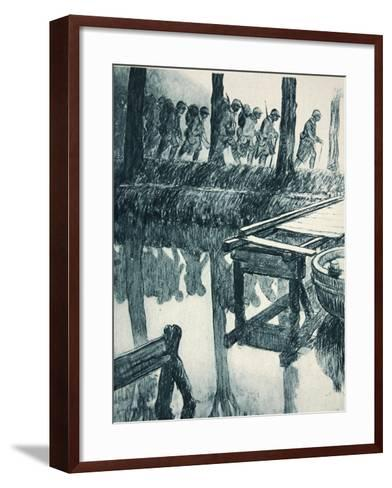 From the Front to the Tuileries: 'Soldiers on their Way to Relieve their Comrades'--Framed Art Print