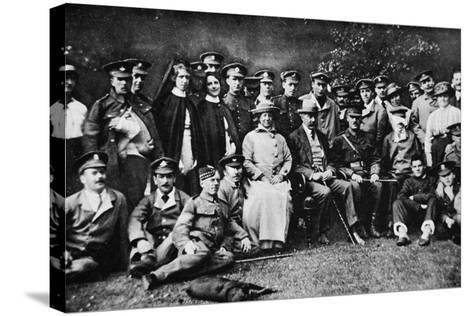 K. of K. Plays the Host: Lord Kitchener Entertains a Number of Wounded Soldiers at Broome Park--Stretched Canvas Print