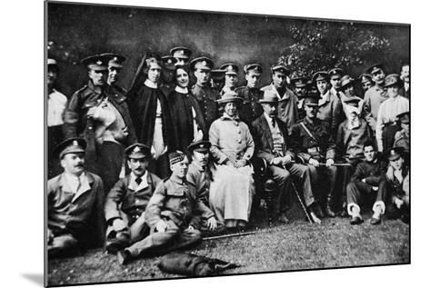 K. of K. Plays the Host: Lord Kitchener Entertains a Number of Wounded Soldiers at Broome Park--Mounted Photographic Print
