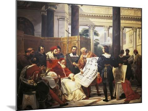 Pope Julius II Ordering Bramante Michelangelo and Raphael to Construct Vatican and St. Peter'S--Mounted Giclee Print