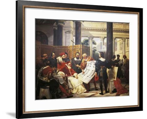 Pope Julius II Ordering Bramante Michelangelo and Raphael to Construct Vatican and St. Peter'S--Framed Art Print