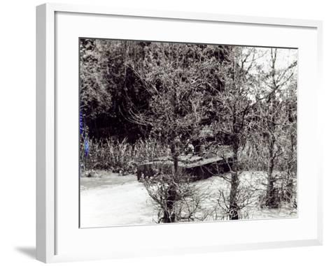 A River Patrol Boat Beaches to Land a Us Navy Seal Team in the Jungle to Hunt Viet Cong--Framed Art Print