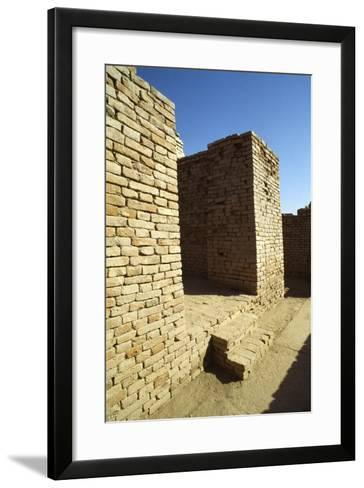 House Entrance with Steps and Sloping Walls in the Lower Town of the Mohenjo Daro--Framed Art Print