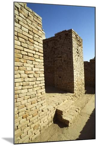 House Entrance with Steps and Sloping Walls in the Lower Town of the Mohenjo Daro--Mounted Photographic Print