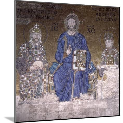 Mosaic Depicting Christ on Throne with Empress Zoe and Right to Her Third Husband--Mounted Photographic Print