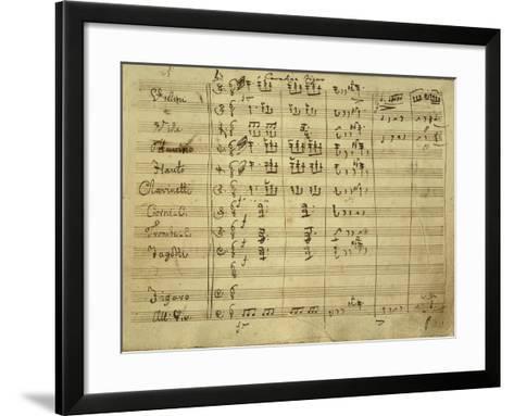 Italy, Bologna, Autograph Score, Figaro's Cavatina for Opera Il Barbiere Di Siviglia--Framed Art Print