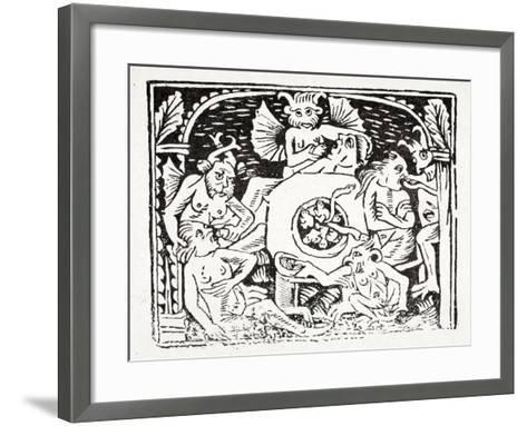 Sixth: Lazarus Describes What He's Seen in Hell - a Valley with a Pungent River--Framed Art Print