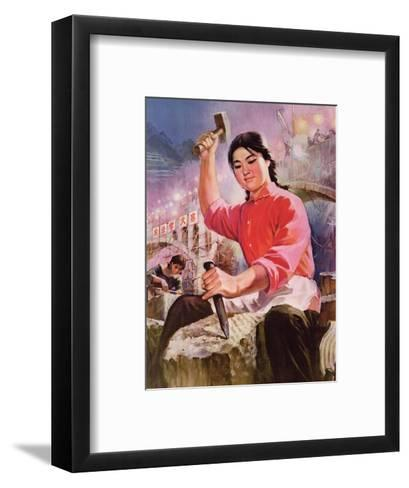Women Hold Up Half of Heaven, And, Cutting Through Rivers and Mountains, Change to a New Attitude--Framed Art Print