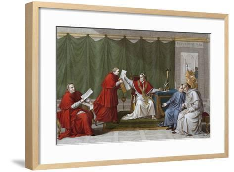 Pope Pius VII Delivering Agreement Reached Between Holy See and French Government--Framed Art Print