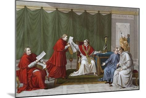 Pope Pius VII Delivering Agreement Reached Between Holy See and French Government--Mounted Giclee Print