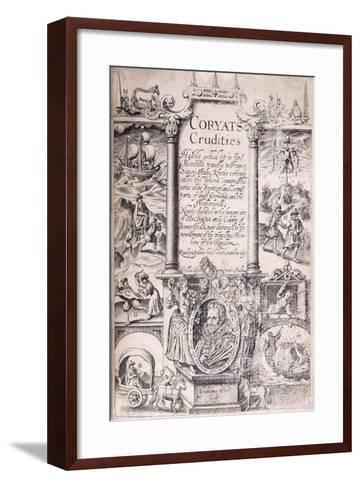 Title Page from 'Coryats Crudities Hastily Gobled Up in Five Moneths Travells in France--Framed Art Print