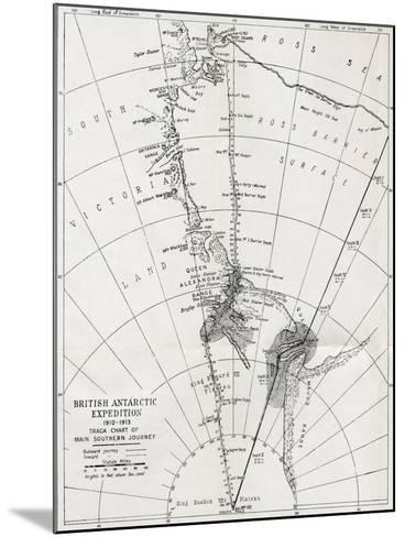 Track Chart of the Main Southern Journey of Robert Falcon Scott's Terra Nova Expedition--Mounted Giclee Print