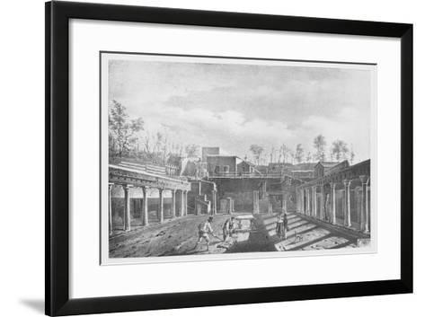 Italy, History of Archaeology, Excavations in the Peristyle of the House of Argus--Framed Art Print