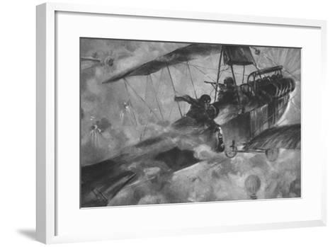The German Airmen as their Countrymen Like to See Them: a Battle Royal in Mid-Air--Framed Art Print