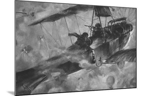 The German Airmen as their Countrymen Like to See Them: a Battle Royal in Mid-Air--Mounted Giclee Print