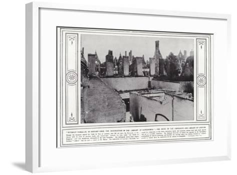 Without Parallel in History Since the Destruction of the Library of Alexandria--Framed Art Print