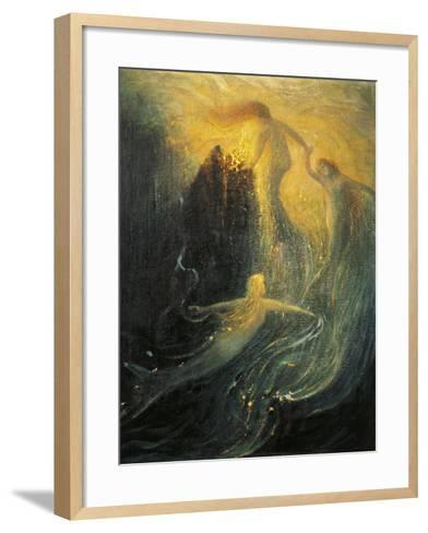 Germany, Bayreuth, the Rhine-Daughters, Sketch for Scenic Design of the Ring of the Nibelungs--Framed Art Print