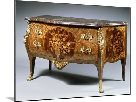 Louis XV Style Chest of Drawers with Madagascar Rosewood and Amaranth Inlays and Gilt Bronzes--Mounted Giclee Print