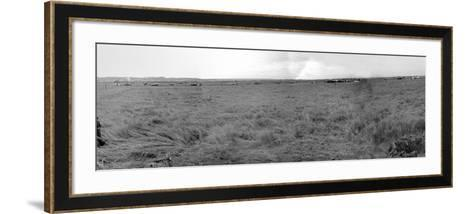 Panorama of Gliders Landed on D-Day on German Coastal Defences of the Atlantic Wall--Framed Art Print