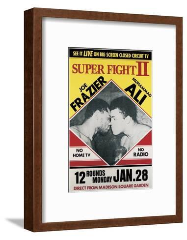 Poster Advertising the Second 'Super Fight' Between Muhammad Ali and Joe Frazier--Framed Art Print
