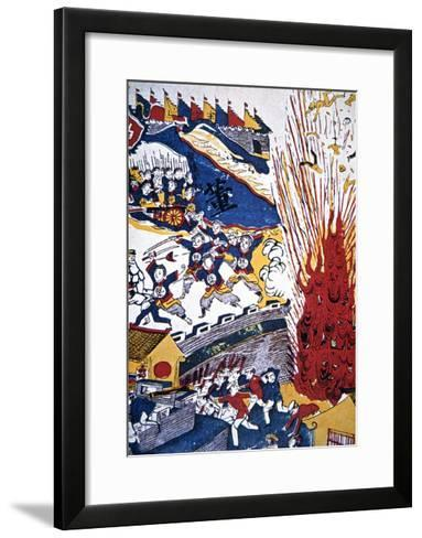 Boxer Propaganda Depicting the Siege of the Foreign Settlements at Tientsin--Framed Art Print