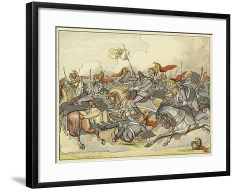 """Where Every Horse Bears His Commanding Rein, and May Direct His Course as Please Himself""""--Framed Art Print"""