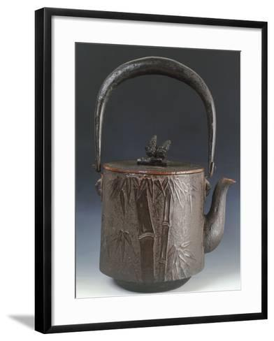 Kettle for Tea Decorated with Relief Depicting Three Friends of Winter Plum Blossom--Framed Art Print
