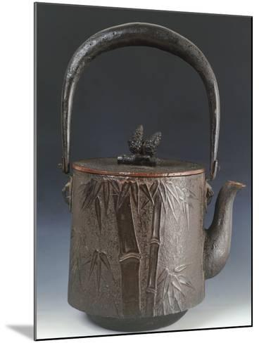 Kettle for Tea Decorated with Relief Depicting Three Friends of Winter Plum Blossom--Mounted Giclee Print
