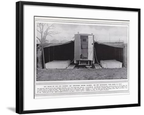Hot Baths by Car for Wounded and Unwounded British Soldiers--Framed Art Print