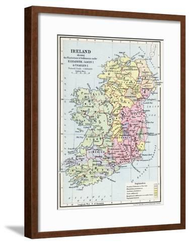 Map of Ireland Showing the Plantations and Settlements under Elizabeth--Framed Art Print