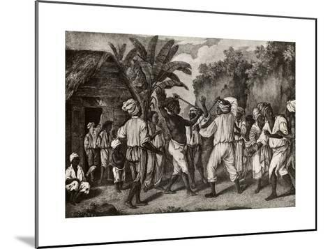 Cudgeling Match Between English and French Negroes on Island of Dominica--Mounted Giclee Print
