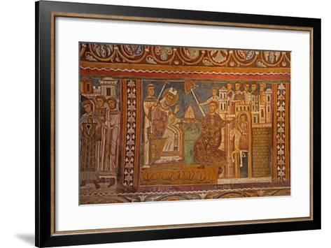 Emperor Constantine Presenting His Imperial Tiara to Pope Sylvester--Framed Art Print