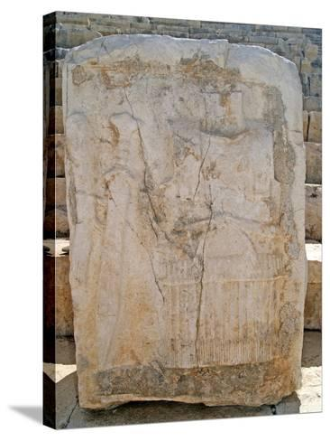 One of the Carved Stones Found in the Roman Theatre of Patara--Stretched Canvas Print