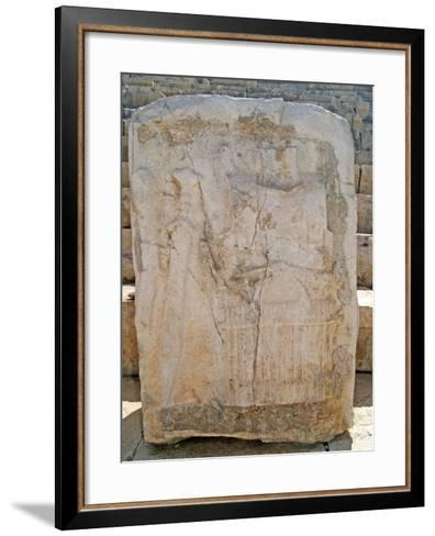 One of the Carved Stones Found in the Roman Theatre of Patara--Framed Art Print