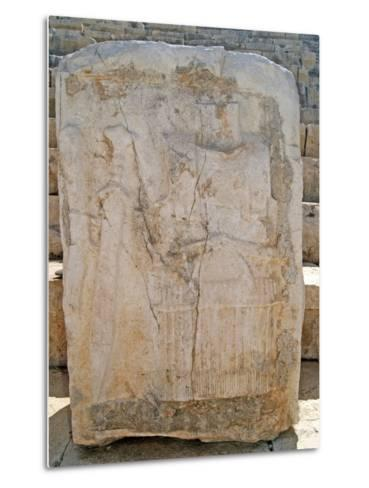 One of the Carved Stones Found in the Roman Theatre of Patara--Metal Print