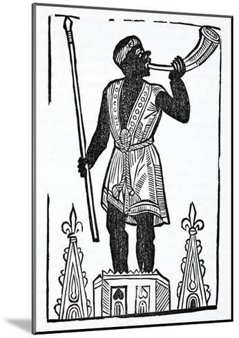 A Moor Standing on a Tower Blowing a Horn to Wake the Dead and Gather Them--Mounted Giclee Print