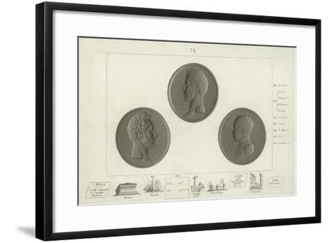 Medallions of Charles X of France and His Son Louis Antoine--Framed Art Print