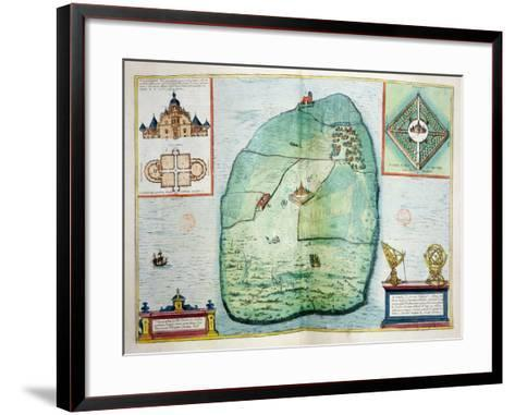 The Castle and Observatory of Uraniborg on the Island of Hven--Framed Art Print