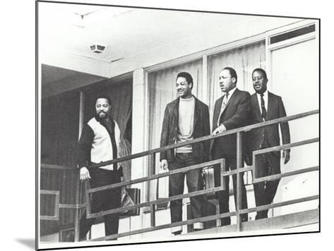 Martin Luther King Standing on the Balcony of the Memphis Hotel--Mounted Photographic Print