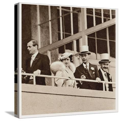 The Coronation Derby: Watching the Race from the Royal Box--Stretched Canvas Print