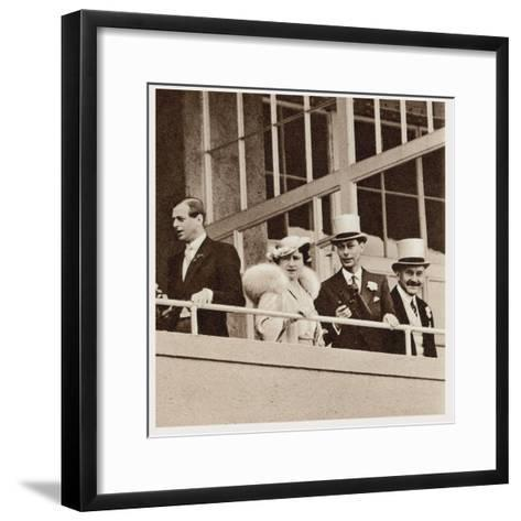 The Coronation Derby: Watching the Race from the Royal Box--Framed Art Print