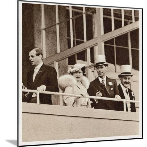 The Coronation Derby: Watching the Race from the Royal Box--Mounted Photographic Print