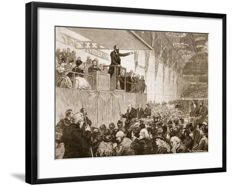 Messrs Moody and Sankey's Revivalist Meeting in the Agricultural Hall--Framed Art Print