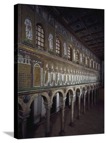 Glimpse of the Nave with Figures of Saints and Prophets--Stretched Canvas Print