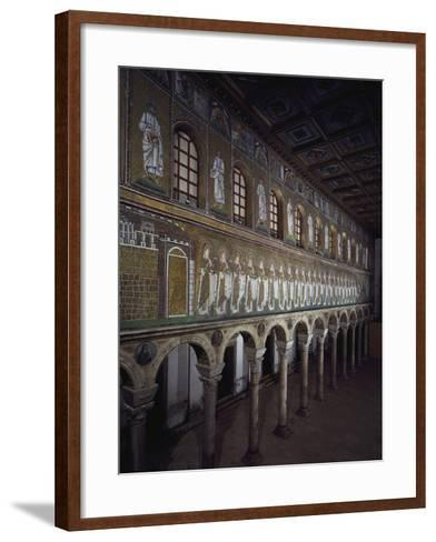 Glimpse of the Nave with Figures of Saints and Prophets--Framed Art Print