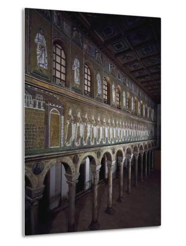Glimpse of the Nave with Figures of Saints and Prophets--Metal Print