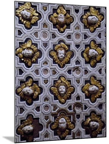 Gothic Compass Tiles Decorated with Winged Cherub Heads--Mounted Photographic Print